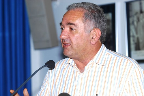 Ο δήμαρχος Κατερίνης κ. Σάββας Χιονίδης κατά τον χαιρετισμό του