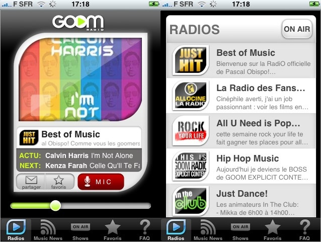 goomradio appli iphone itouch
