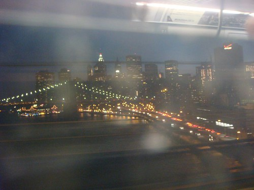 Manhattan through the subway window...