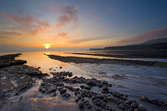 Kimmeridge Ledges (antonyspencer) Tags: world uk winter sunset seascape heritage landscape bay coast tide low dorset coastline range jurassic purbeck kimmeridge lulworth ledges aplusphoto