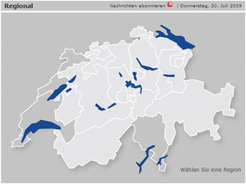 Regional-Karte SF Nachrichten