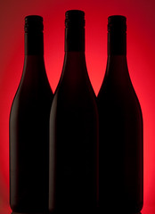 Black on Red (david.kittos) Tags: red glass bottle wine alcohol zd 50mmmacro20 strobist lightscience