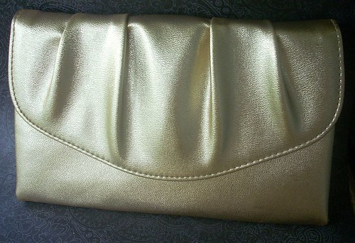 vintage gold clutch purse