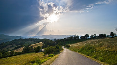 Landscape in Maiano (ctulu) Tags: sunset sun landscape montefeltro maiano yourcountry