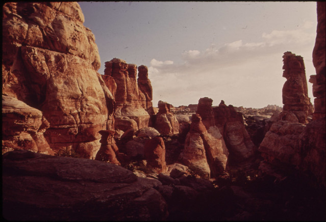 "Rock Formations in ""The Doll House,"" a Very Remote Section of the Canyonlands, 05/1972"
