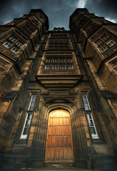 The Castle Door (Semi-detached) Tags: road door old school building castle stone dark lens for scotland wooden nikon edinburgh angle cloudy terrace murrayfield 10 wide perspective scottish style deaf brooding 20 haymarket hogwarts 1020 donaldsons chirascuro aplusphoto