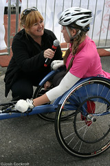 York 10K Run For All (Josh Cockroft) Tags: york sport canon eos 350d tv wheelchair calender 10k runners awards interview crowds finishline itv looknorth 20809 stevecram runforall janetomlinson harrygration bbcyork hannahcockroft miketominson