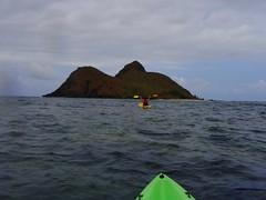 Victory! (maus) Tags: kayak angela mokuluaislands hawaiioahu mokunui