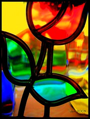 Stained Glass (Jan 130) Tags: art photography colours view fine vivid stainedglass explore frontdoor amazingcolours flickrcommunity anycolouryoulike kissedbylight metallicobjects lightstyles acesforbases qualitysurroundings creativeoutbursts