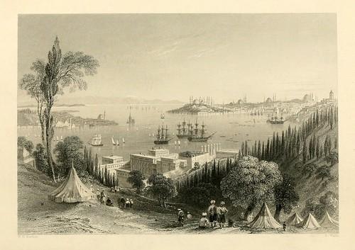 003-Palacio de Beshik-Tash--Las bellezas del Bosforo 1838-W.H. Bartlett