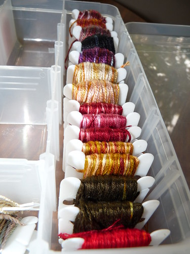 Hand Dyed Threads from the Summer Project