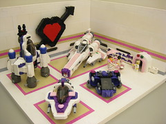 Space Hearts 2 (DJ Quest) Tags: hearts fighter lego space hanger moc starfighter