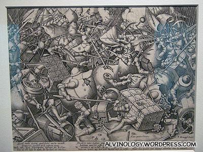 A piece depicting war