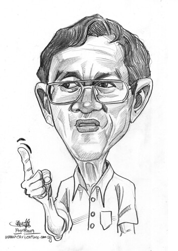 guy caricature in pencil 140909