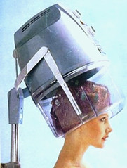 034 - Chrome Dome (Sydney Michelle) Tags: brown net set youth hair hood 1960s rollers brunette dryer sixties hairnet rolled curlers brownette