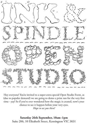 Ink & Spindle Open Studio 26 Sept 2009