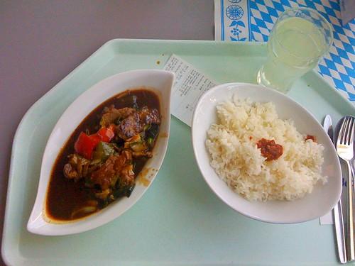Rindfleisch, Gemüse & Reis