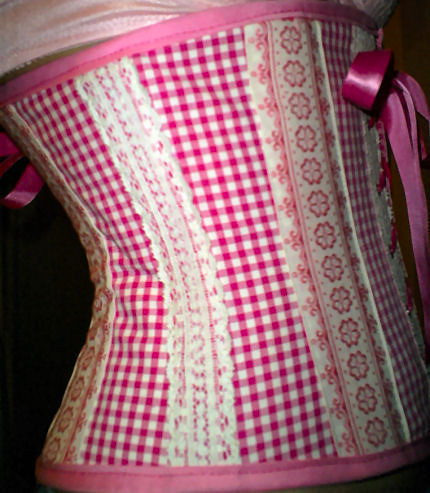 pink fashion sewing lingerie underbustcorset