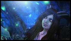 : Lainey : (:  :  or  hi ) Tags: blue night dark sl lena secondlife foret faun bloch laineyninetails lenabloch benthamforest