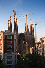 View From Our Apartment Window (Cameron Booth) Tags: barcelona church spain construction europe crane catalonia unescoworldheritagesite unesco spire catalunya sagradafamilia templeexpiatoridelasagradafamlia expiatorytempleoftheholyfamily temploexpiatoriodelasagradafamilia