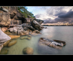 along hermitage walk (Pawel Papis Photography) Tags: water rocks dusk sydney australia nsw vaucluse sigma1020 canon400d