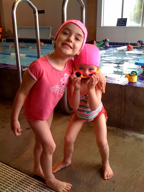 Both girls ready to swim by scum90
