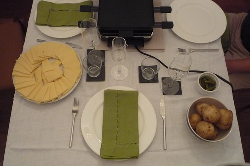Raclette place setting