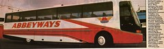Abbeyways Bedford YNT Wright Contour A60 OJX (miledorcha) Tags: bus bedford coach frankfurt 1984 1983 wright halifax tours executive contour ballymena motorshow huddersfield psv pcv traject ynt luxurytravel abbeyways ivesway a60ojx wrightcontour