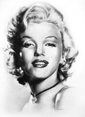 Marilyn Monroe 02 (pbradyart) Tags: portrait bw art pencil star sketch artwork drawing marilynmonroe marilynmonroeportrait filmstardrawing artisawoman marilynmonroedrawing marilynmonroepencildrawing