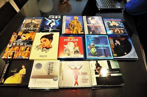 最近買的藍光、DVD與CD