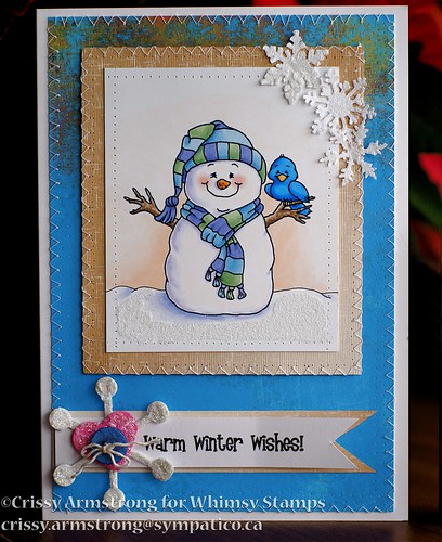 Whimsy snowman front