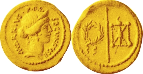 513-01 Aureus Arria Fortune Wreath Spear Phalerae