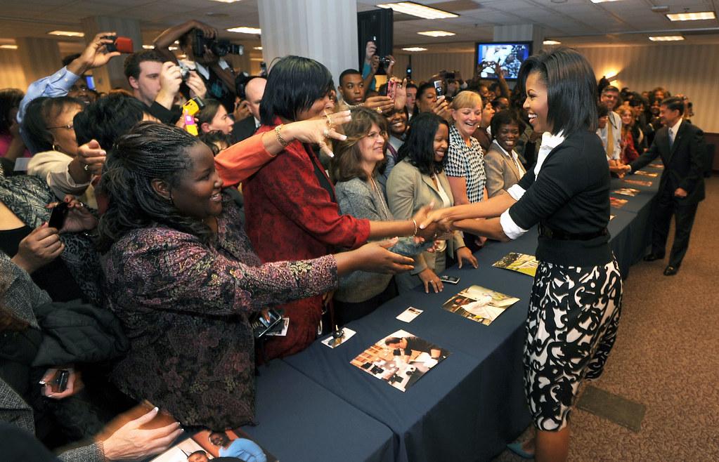 Michelle Obama visits VA Central Office 169