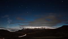 Beinn Mhr na Cigich by Moonlight (Ben Malcolm) Tags: sky snow mountains night stars scotland highlands corbett ullapool munro benmorecoigach canoneos450dukusers beinnmhrnacigich