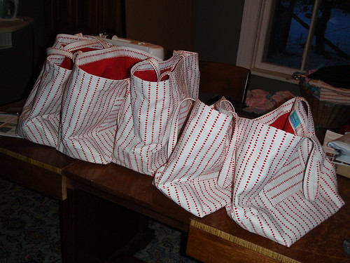 5 tote bags ready to go!