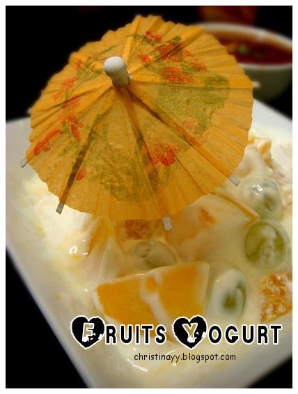 Christmas Eve Dinner 2009: Fruits Yogurt