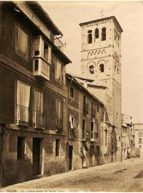 Iglesia de Santo Tomé de Toledo en el siglo XIX. Fotografía de Jean Laurent