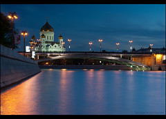 Moscow. Big Stone Bridge. (Yuri Degtyarev) Tags: bridge stone river big christ sam cathedral moscow sony yuri 100 alpha dslr 18 50 sal dt a100 savior  cokin 5018 50f18 p120    pseries degtyarev dslra100 alpha100    sal50f18 psystem