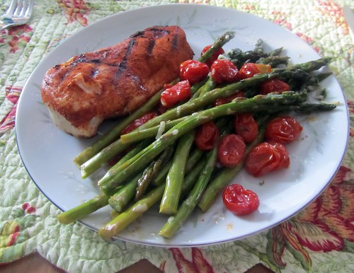 Grilled Chicken w/ Grilled Asparagus