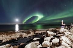 Garðskagi (Kjartan Guðmundur) Tags: iceland ísland garður lighthouse auroraborealis northernlights zorzapolarna polarlict nocturne nordlys ocean stars sky rocks shore tokinaatx1628mmf28profx canoneos5dmarkiv kjartanguðmundur arctic photoguide ngc