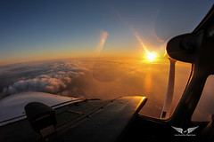 Off the coast of LA in a 172 (gc232) Tags: tokina fisheye 1017mm flying cessna 172 aerial above clouds golfcharlie232 live from flight deck fly aviation avgeek plane airplane sunset sunrise cloud cloudy sky