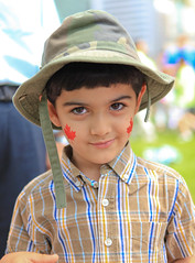 Happy Canada Day (Anirudh Koul) Tags: canada kid day child quebec montreal flag parade mapleleaf canadaday