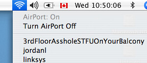 Confrontation via Wireless Network name by passiveaggressivenotes.