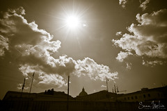 Sun Over The Vatican (Sean Molin Photography) Tags: european vacationeuropeitalyrome2009marchvacationitalli vacationeuropeitalyrome2009marchvacationitallian