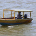 water taxi waiting for customers.  Photo by Sarah Jane Evans.