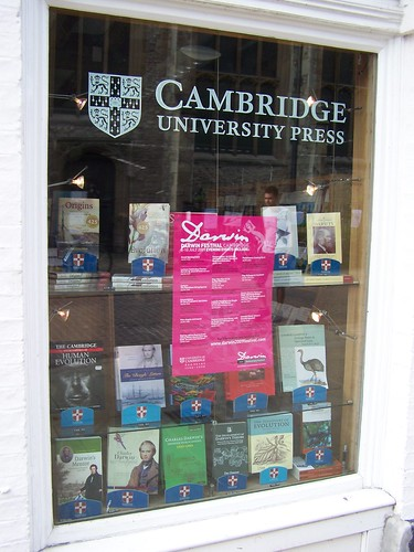 Darwin Display, Cambridge University Press Bookshop, Cambridge, England