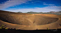 202365  Cinder Cone  10 Jul 09 (Doug Churchill) Tags: california ca shadow camp usa composite clouds forest volcano shadows view nps hiking unitedstatesofamerica peak bluesky trail cascades summit vista backcountry shield volcanoes campground nationalparkservice volcanic cloudscape lassen cindercone carcamping plugdome lassenpeak lassencounty jpbjr