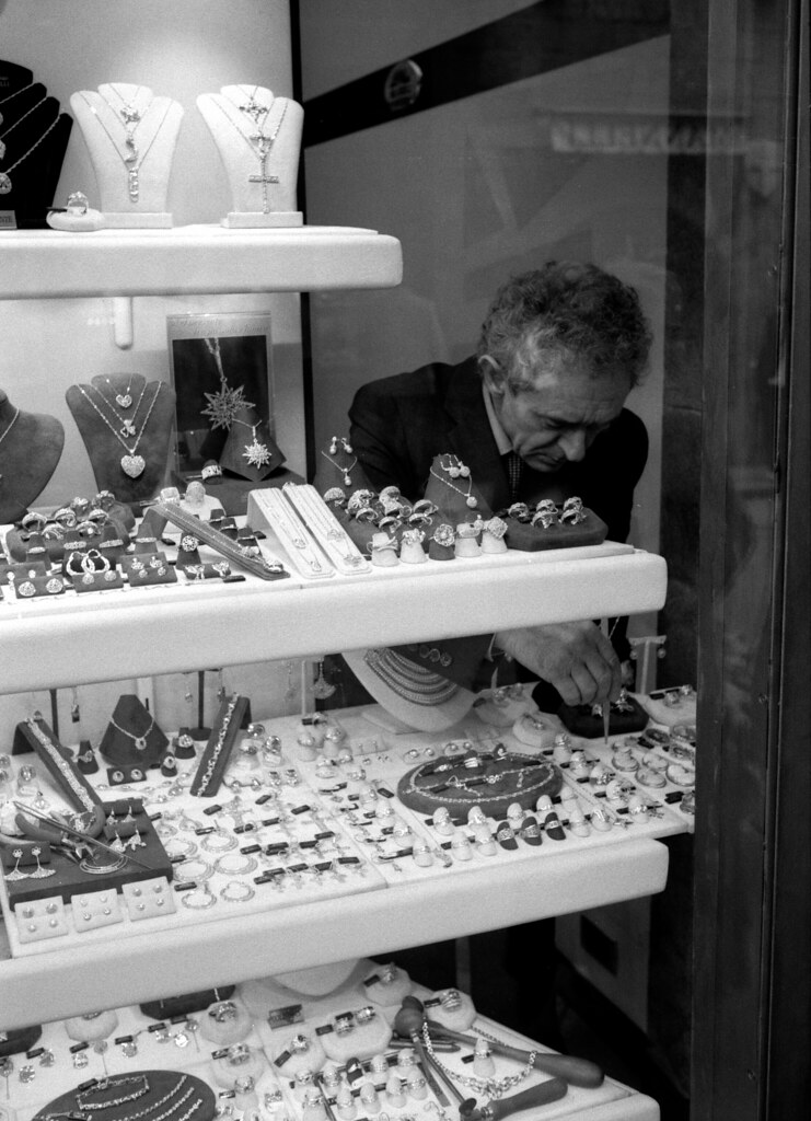 Jeweller on Ponte Vecchio