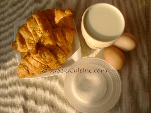 Caramel Croissant Pudding