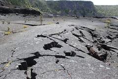 Cracks in the crater floor